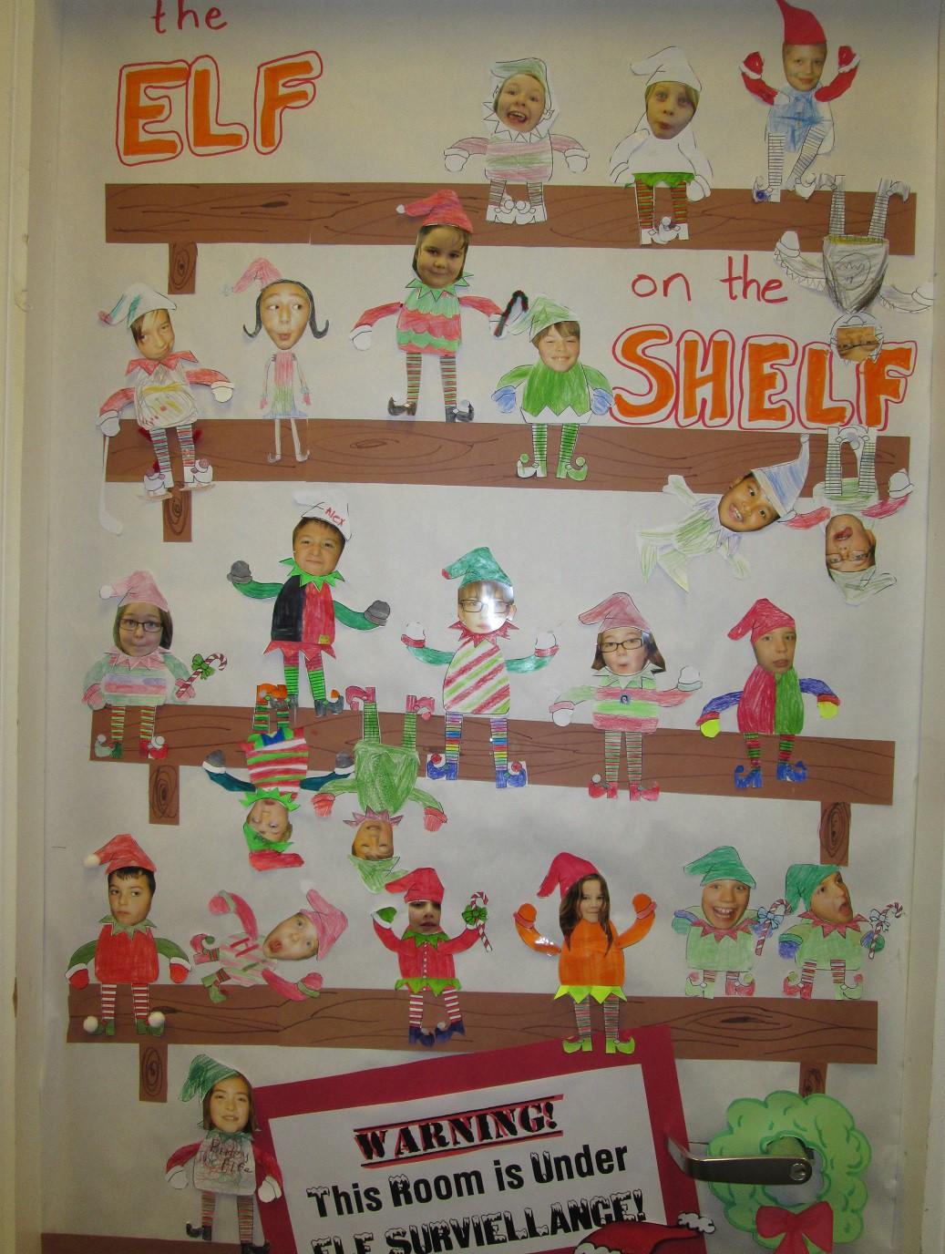"Latest Classroom Door Decoration Ideas ~ Our class ""elf on a shelf door decorations mr ogren"