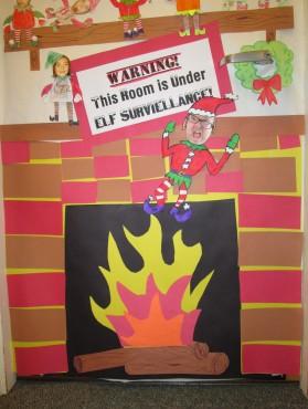 Our Class Elf On A Shelf Door Decorations Mr Ogren